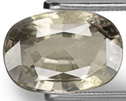 AIGS Certified Madagascar Fancy Sapphire, 4.21 Carats, Soft Greyish Green