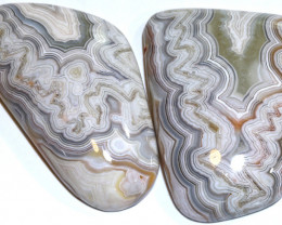 105 CTS NATURAL LAGUNA AGATE PAIR  ADG-400