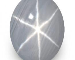 Sri Lanka Blue Star Sapphire, 11.46 Carats, Bluish Grey Oval
