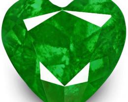 Colombia Emerald, 1.30 Carats, Fiery Green Heart
