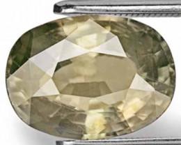 AIGS Certified Madagascar Fancy Sapphire, 5.93 Carats, Deep Brownish Green