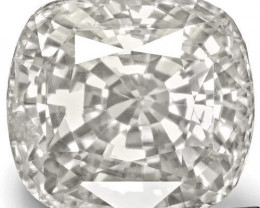 GIA Certified Madagascar Colorless Sapphire, 8.90 Carats, Colorless Cushion
