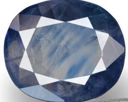 GIA Certified Kashmir Blue Sapphire, 3.14 Carats, Deep Blue (Color Zoning)