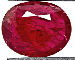 Mozambique Ruby, 1.86 Carats, Intense Red Oval