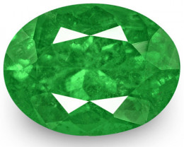 Colombia Emerald, 2.80 Carats, Lively Intense Green Oval