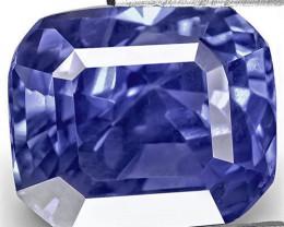 IGI Certified Sri Lanka Blue Sapphire, 5.07 Carats, Cornflower Blue