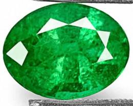 GII Certified Zambia Emerald, 2.83 Carats, Deep Royal Green Oval