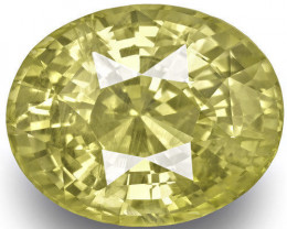GIA Certified Sri Lanka Yellow Sapphire, 10.36 Carats, Medium Yellow Oval