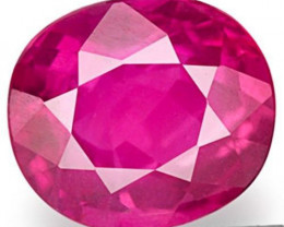 Mozambique Ruby, 0.59 Carats, Rosy Pinkish Red Oval