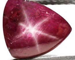 India Star Ruby, 5.18 Carats, Maroon Triangular