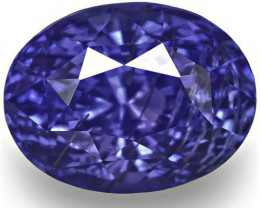 GIA Certified Sri Lanka Blue Sapphire, 4.12 Carats, Rich Cornflower Blue