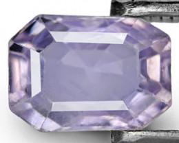 IGI Certified Sri Lanka Colorless Sapphire, 1.16 Carats, Emerald Cut