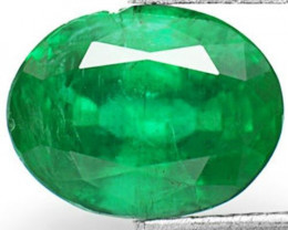 GII Certified Zambia Emerald, 2.28 Carats, Deep Velvet Green Oval