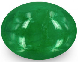 Zambia Emerald, 1.59 Carats, Deep Green Oval