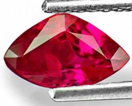 IGI Certified Burma Ruby, 1.08 Carats, Neon Red Trilliant