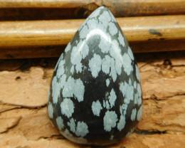 Snow flake obsidian cabochon bead (G1085)