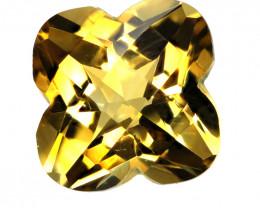 4.18cts Golden Yellow Citrine Flower Checker Board Shape