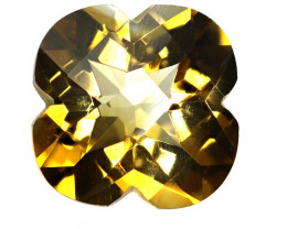 3.91cts Golden Yellow Citrine Flower Checker Board Shape