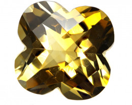4.07cts Golden Yellow Citrine Flower Checker Board Shape