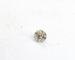 0.12ct  Light brownish Green Diamond , 100% Natural Untreated