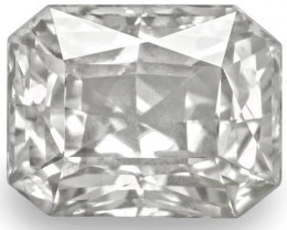 GIA & IGI Certified Sri Lanka Colorless Sapphire, 6.07 Carats, Colorless