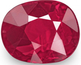 Mozambique Ruby, 1.49 Carats, Blood Red Oval