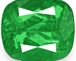 Colombia Emerald, 2.38 Carats, Lively Neon Green Cushion