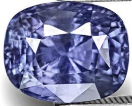 GRS Certified Madagascar Blue Sapphire, 4.51 Carats, Lustrous Intense Blue