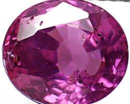 AIGS Certified Sri Lanka Pink Sapphire, 2.55 Carats, Intense Purplish Pink