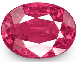 IGI Certified Mozambique Ruby, 1.75 Carats, Lively Pink Red Oval