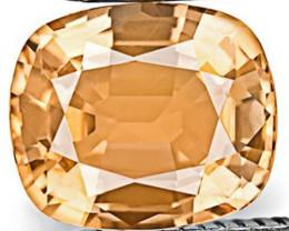 IGI Certified Sri Lanka Padparadscha Sapphire, 0.65 Carats, Sunset Orange