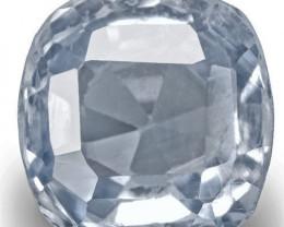 GIA & IGI Certified Kashmir Blue Sapphire, 3.01 Carats, Light Blue Cushion