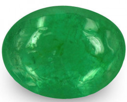 Zambia Emerald, 1.35 Carats, Bright Green Oval