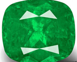 Colombia Emerald, 2.47 Carats, Rich Velvety Green Cushion