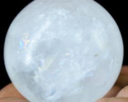 Genuine 590.00 Cts White Quartz Healing Sphere