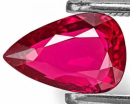 Mozambique Ruby, 1.09 Carats, Deep Pinkish Red Pear
