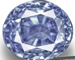 GIA & IGI Certified Kashmir Blue Sapphire, 4.27 Carats, Lively Blue Oval