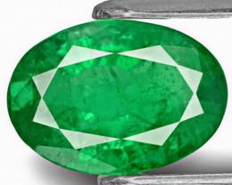 Zambia Emerald, 2.31 Carats, Deep Green Oval