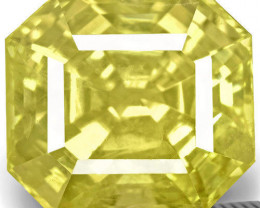 GIA Certified Sri Lanka Yellow Sapphire, 6.12 Carats, Bright Yellow
