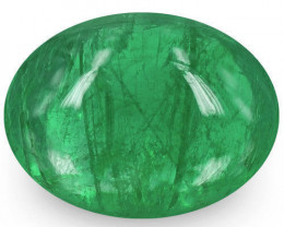 Zambia Emerald, 1.25 Carats, Medium Green Oval