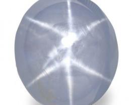 Sri Lanka Blue Star Sapphire, 11.74 Carats, Light Blue Oval