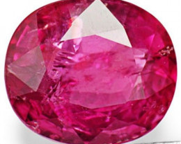 IGI Certified Mozambique Pink Sapphire, 1.97 Carats, Deep Pink Oval