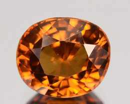 2.33 Cts  Natural Imperial Brown Zircon Oval Srilanka