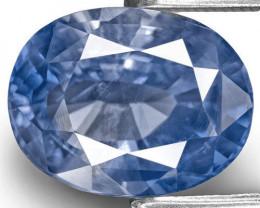 GIA & IGI Certified Kashmir Blue Sapphire, 5.02 Carats, Oval