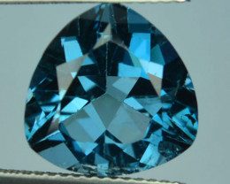 6.71 Cts Natural London Blue Topaz Trillion Cut Brazil