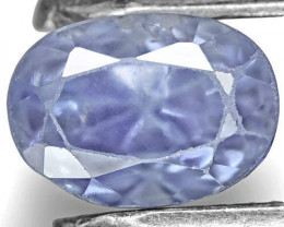 GIA Certified Kashmir Blue Sapphire, 0.71 Carats, Pastel Blue Oval