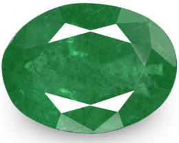 Zambia Emerald, 4.57 Carats, Dark Green Oval