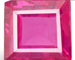 Mozambique Ruby, 0.43 Carats, Orangish Pink Rectangular
