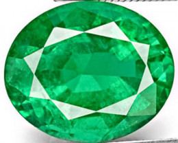 Zambia Emerald, 3.39 Carats, Deep Green Oval