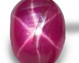 Burma Star Ruby, 1.79 Carats, Pinkish Red Oval